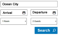 Ocean City Hotel Search Box